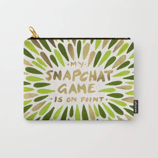 Snapchat – Green & Gold Carry-All Pouch