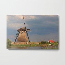 Windmill Of Kinderdijk Metal Print