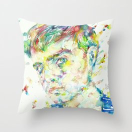 TRUMAN CAPOTE - watercolor portrait Throw Pillow