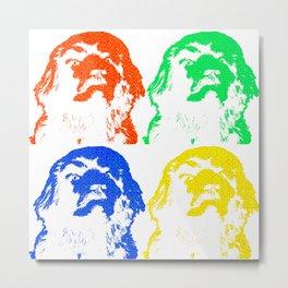 Newfoundland Dog Newfie Pop Art Gift Metal Print
