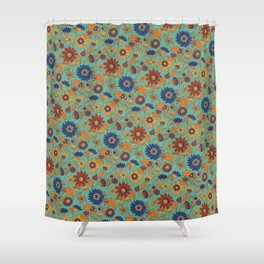 Flowers in colors Shower Curtain