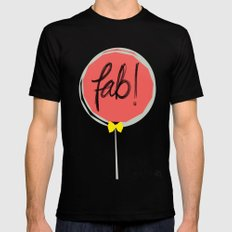 Fab! MEDIUM Black Mens Fitted Tee