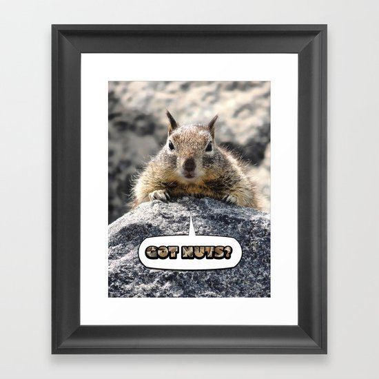 Got Nuts? Framed Art Print