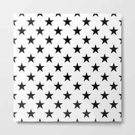 STARS DESIGN (BLACK-WHITE) Metal Print