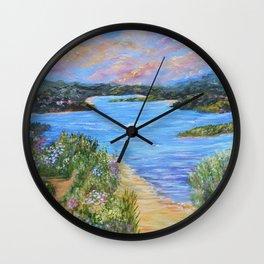 Hidden Beaches Wall Clock