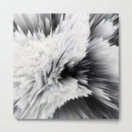 Scream Drip Painting Metal Print