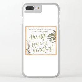 1 Peter 5:10 Clear iPhone Case
