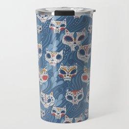 Calavera Cats Travel Mug