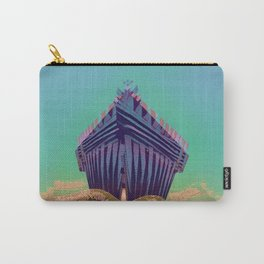 Surfing The Big Wave Searching Mermaids Carry-All Pouch