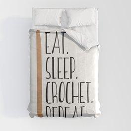 Eat Sleep Crochet Repeat Comforters