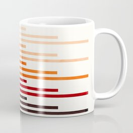 Brown Minimalist Abstract Mid Century Modern Staggered Thin Stripes Watercolor Painting Coffee Mug