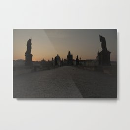 Charles Bridge Prague Metal Print