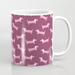 Pinky dachshunds pattern Coffee Mug