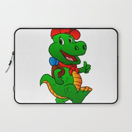 Dino hiker. Laptop Sleeve