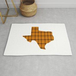 Texas State Shape: Orange Rug