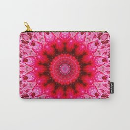Hot Pink Hearts Mandala Carry-All Pouch