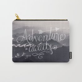 Adventure awaits Typography Gorgeous Mountain View Carry-All Pouch