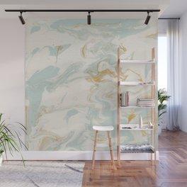 Marble - Cream & Blue Wall Mural