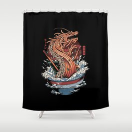 Ramen Dragon Shower Curtain