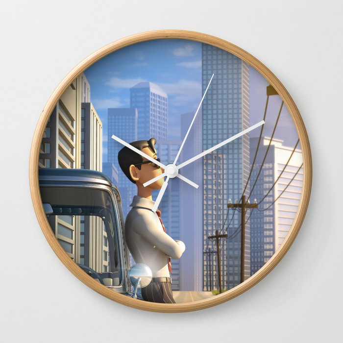 Luca S Day Off Wall Clock By Oasim