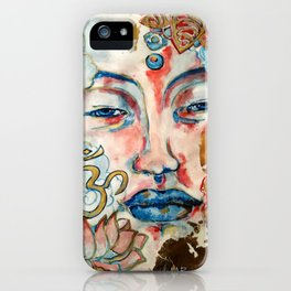 Buddah, lotus and OM iPhone Case