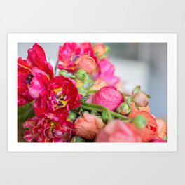 Fiery Red Flowers Art Print
