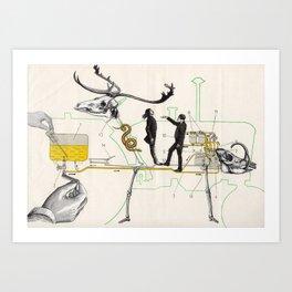 Schéma d'alimentation en Combustible de Moteur Art Print