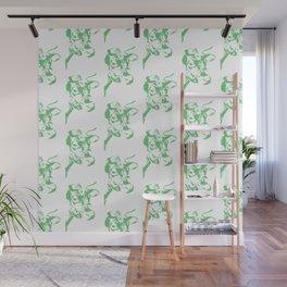 Follow the Herd Pattern - Green #637 Wall Mural
