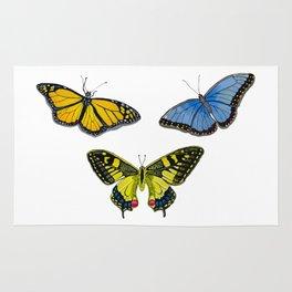 3 Butterflies Rug