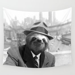 Sloth in New York Wall Tapestry