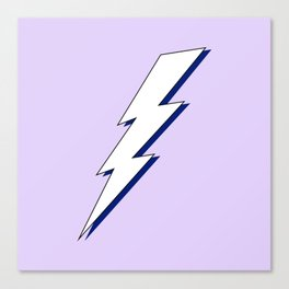 Just Me and My Shadow Lightning Bolt - Purple White Blue Canvas Print