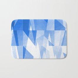 Abstract Blue Geometric Mountains Design Bath Mat