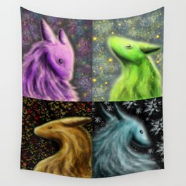 Four Seasons Dragons Wall Tapestry