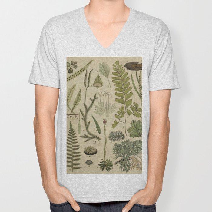 Ferns And Mosses Unisex V-Neck