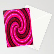 Abstract Pink Modern Stationery Cards