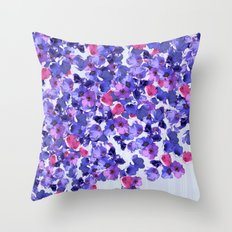 In the land of grey and pink Throw Pillow