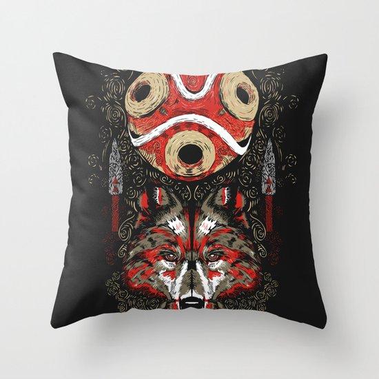 Mononoke Totem Throw Pillow