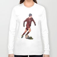 soccer Long Sleeve T-shirts featuring Soccer by Karen Pettengill