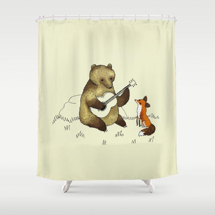Bear Fox Shower Curtain