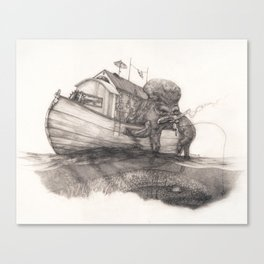 Hanging in a Houseboat Canvas Print