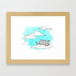 Sky Cat Framed Art Print