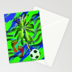 Soccer on the beach Stationery Cards