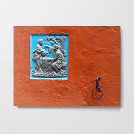 Ochre and blue Metal Print
