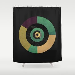 Circle Fibonacci.1 Shower Curtain