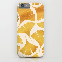 Abstraction_GOLDEN_Ginkgo_Pattern_Minimalism_001 iPhone Case