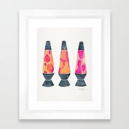 Retro Vibes – Peachy Pink Palette Framed Art Print
