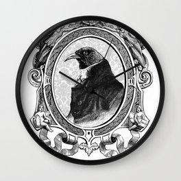 Old Black Crow Wall Clock
