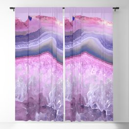 Ultraviolet and Pink Agate Blackout Curtain