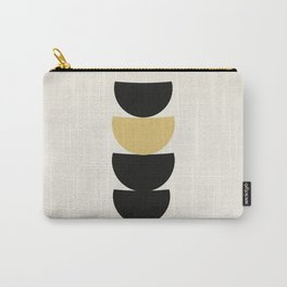 Crescents (Black and Mustard) Carry-All Pouch