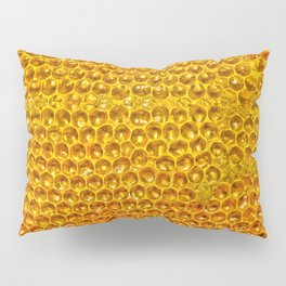 Yellow honey bees comb Pillow Sham